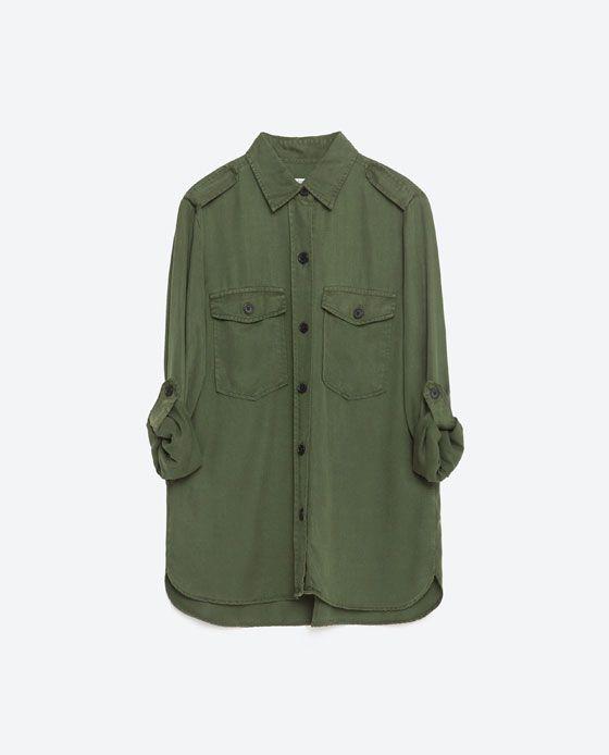Wish List Zara 2019 8 Image Chemise De En Style Militaire Xq0Yz