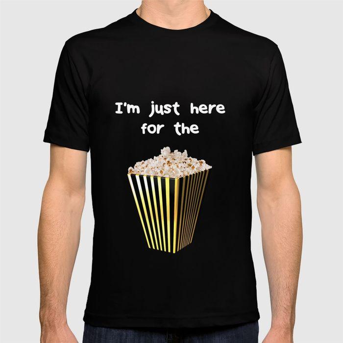 i m just here for the popcorn tshirt popcorn popcornday popcornlover