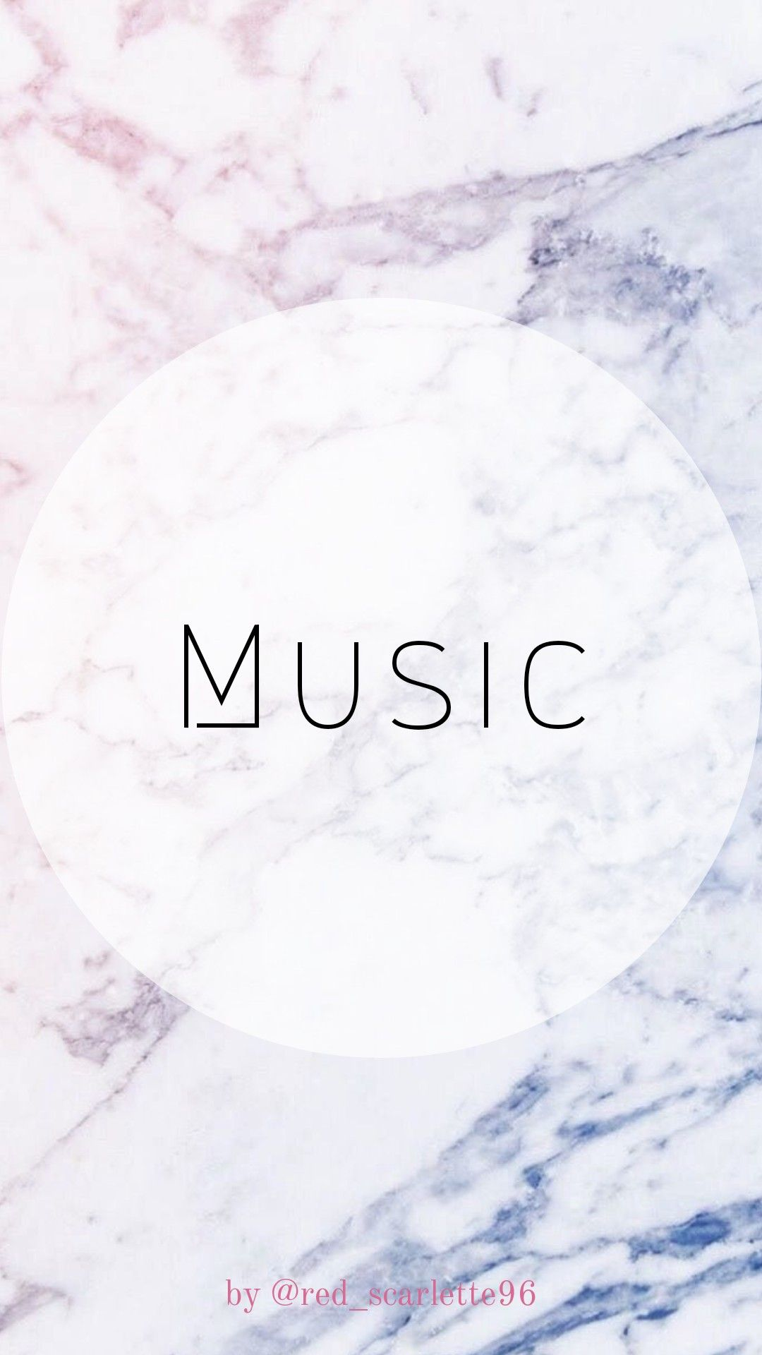 Instagram Highlight Icon Template Marble Gradient Music