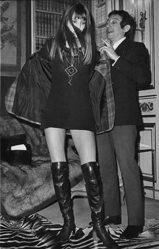 Jane Birkin and Serge. That dress and those boots.