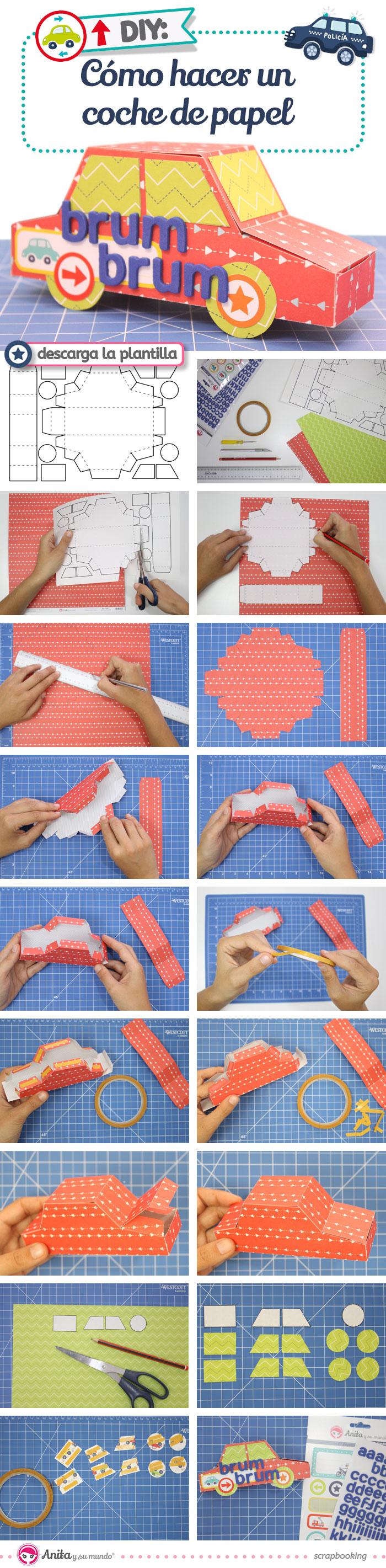 Diy caja regalo con forma de coche de papel paso a paso - Papel de regalo original ...
