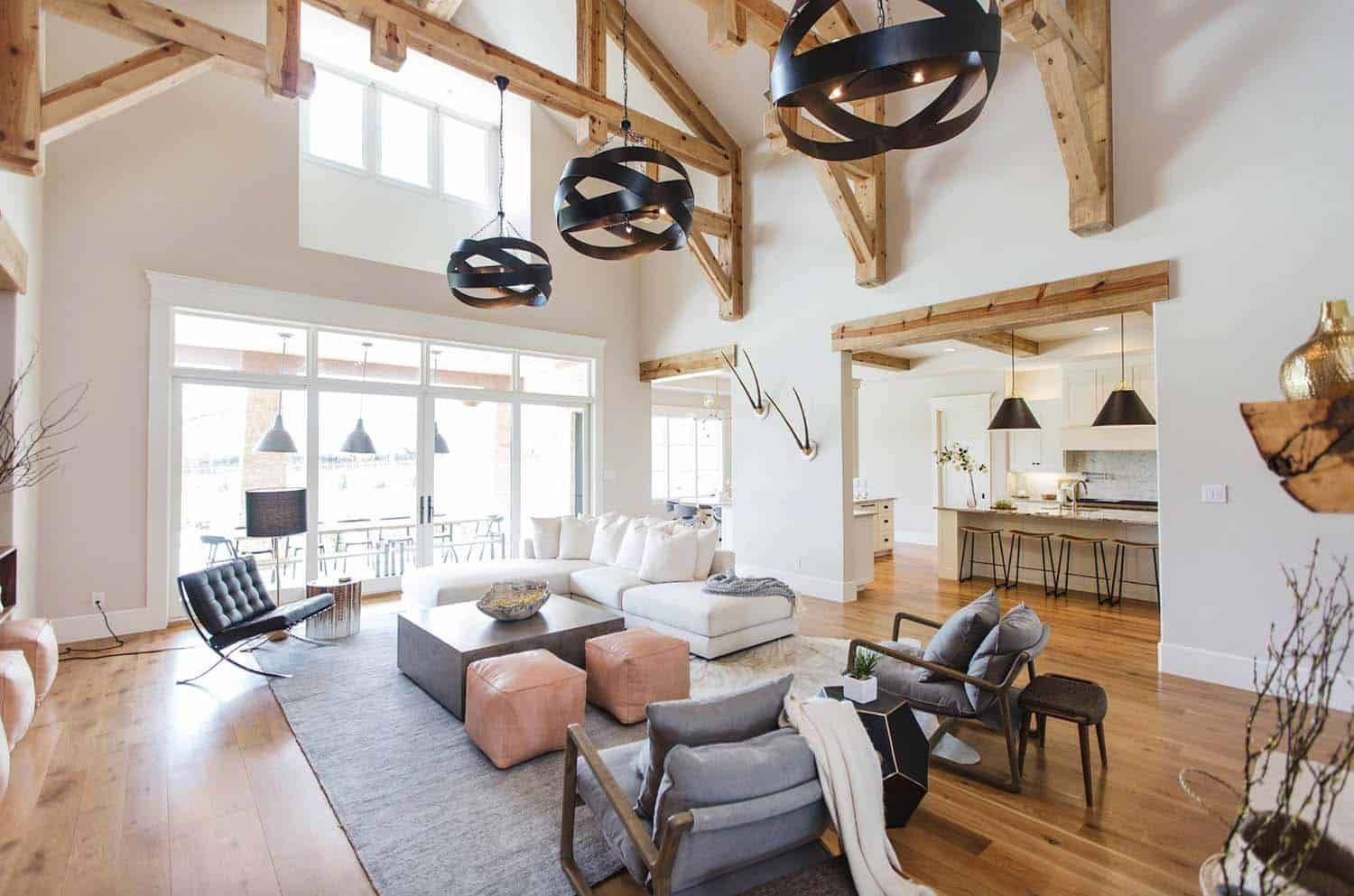 Texas Hill Country Home Gets A Gorgeous Rustic Contemporary Makeover Modern Farmhouse Living Room Modern Farmhouse Living Room Decor Farm House Living Room Texas living room decor