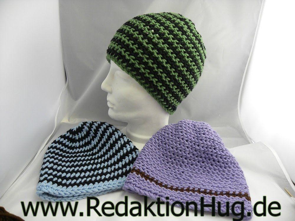 Häkeln - HUG-Mütze aus linken festen Maschen | Sträkeln | Pinterest ...