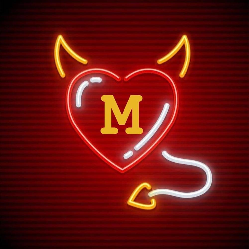 عکس پروفایل حرف انگلیسی M Neon Signs Letters Neon