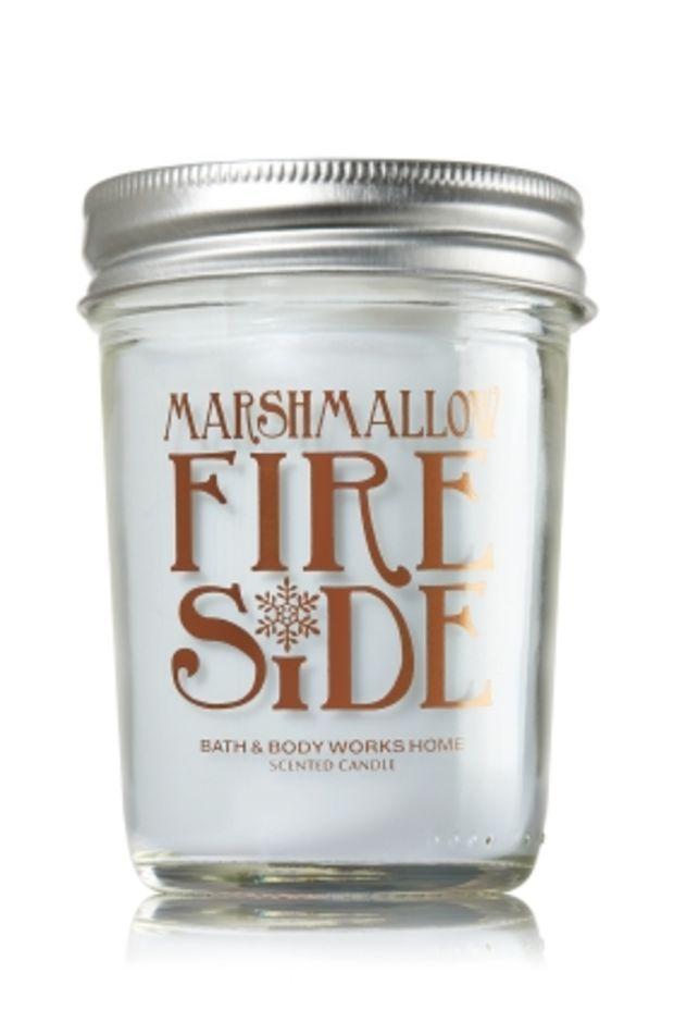 Mason Jar Candle Marshmallow Fireside