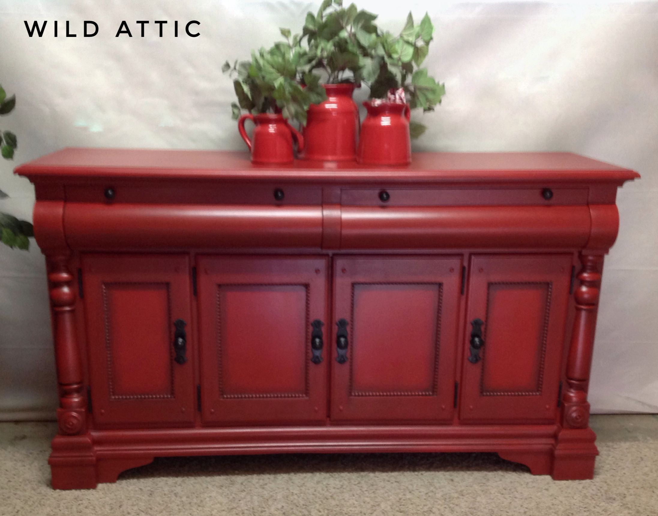 Gorgeous sideboard buffet hand painted with custom chalk paint
