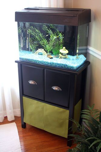 The Redheaded Stepchild Diy Aquarium Stand Skirt Aquarium Stand Diy Aquarium Diy Aquarium Stand