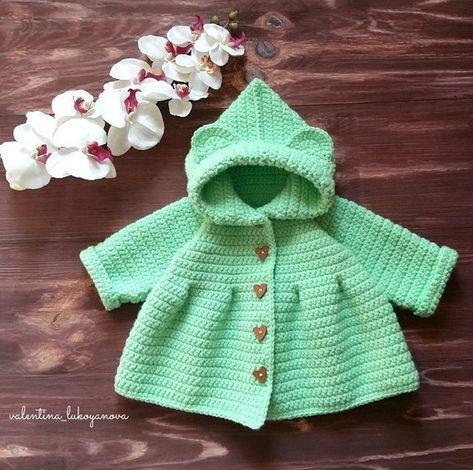 Crochet Baby Ruffled Cardigan Coat Free Pattern Video Crochet