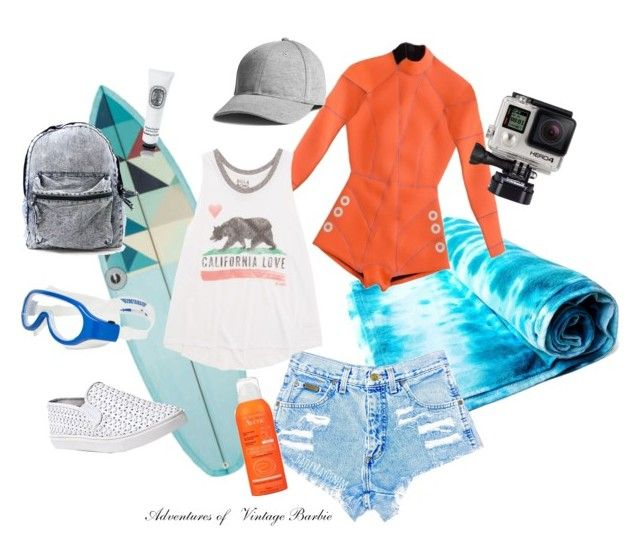 """""""Surfer Girl"""" by vintagebarbie17 on Polyvore featuring Cynthia Rowley, Billabong, Steve Madden, Avène and Diptyque"""