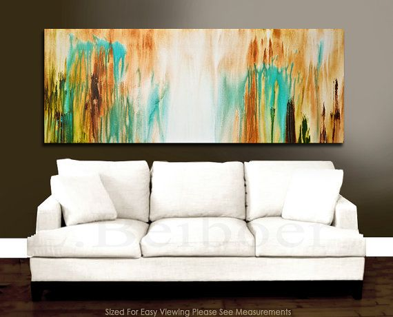 """Original Abstract Art 72"""" large painting 6ft MASSIVE white blue"""