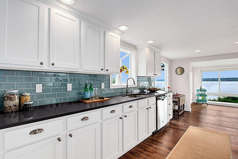 Beautiful Aristokraft Benton White kitchen cabinets ...