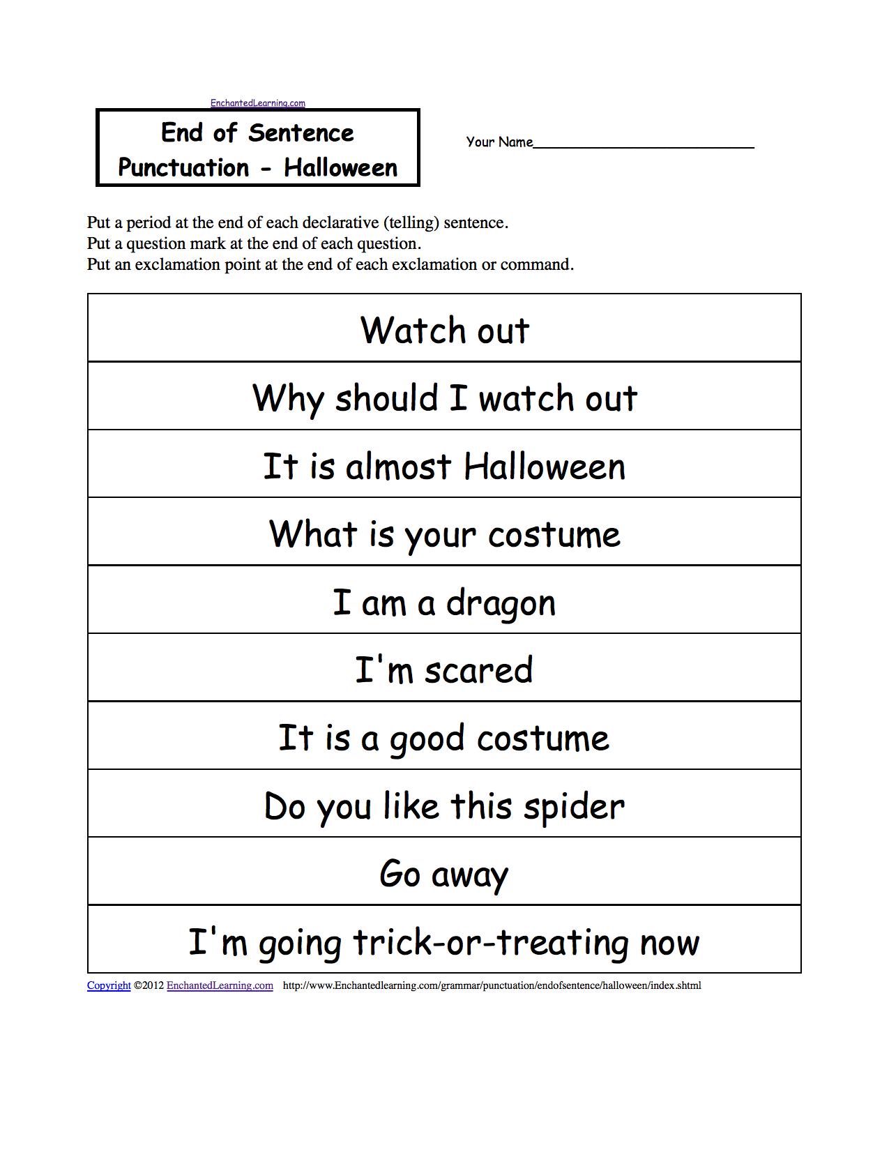 Punctuate | Halloween | Pinterest | Elementary schools, Activities ...