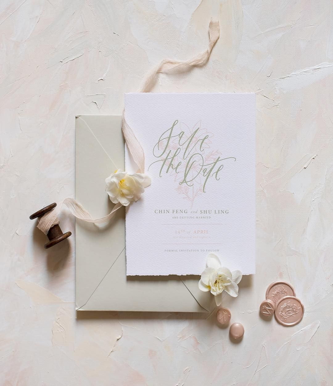 Gifts Of Grace Design On Instagram A Romantic Save The Date