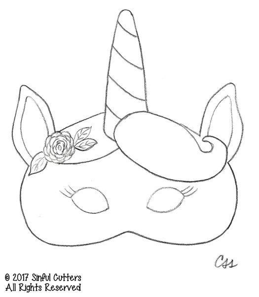 Image Result For Unicorn Mask Template Unicorn Mask Unicorn Birthday Unicorn Birthday Parties
