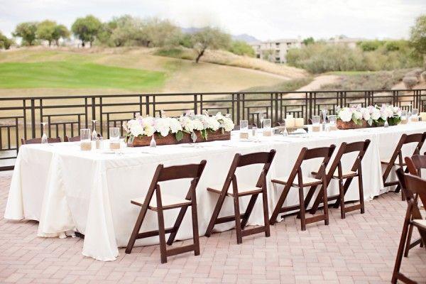 Real Weddings: Kara + Jason. Long Table ...