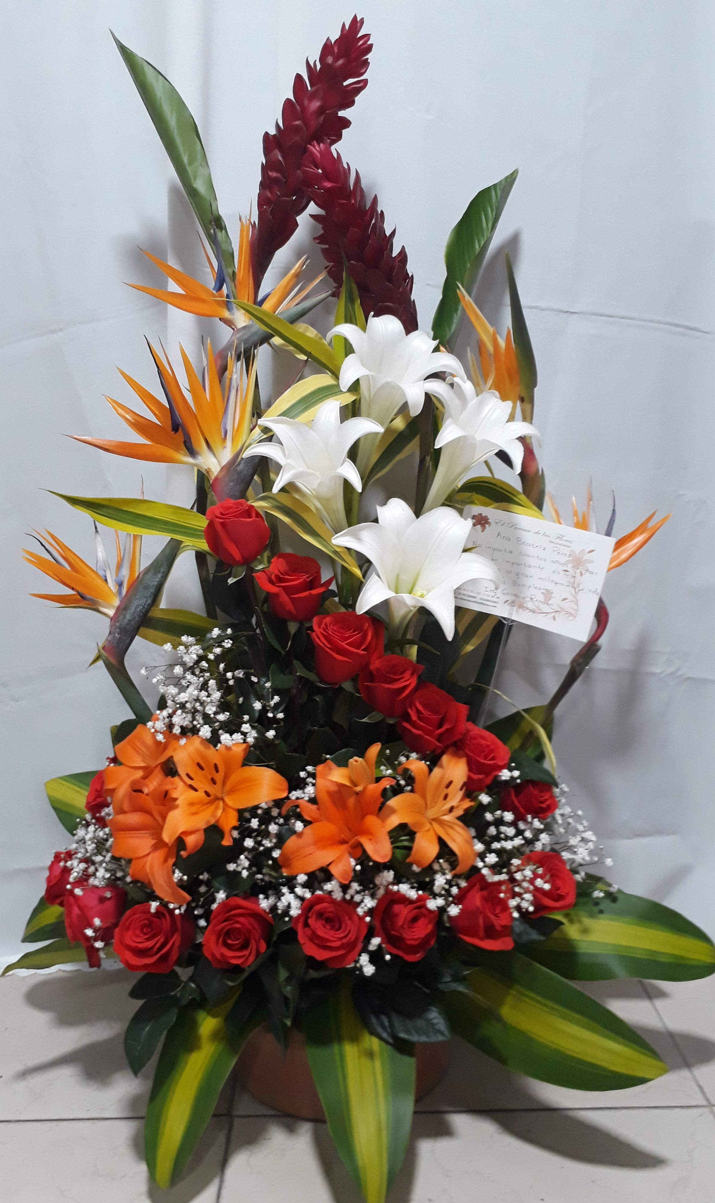 Feliz Cumple Flores Arreglos Florales Arreglo Floral