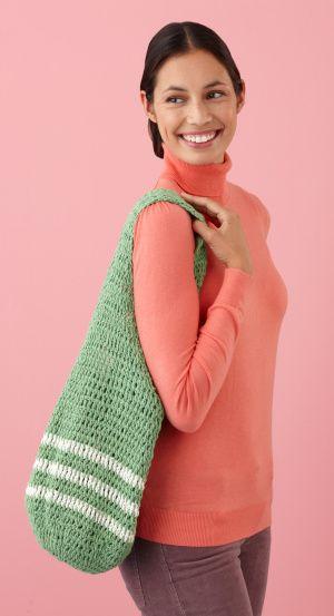Free Crochet Pattern L10246 Summer Market Tote Lion Brand Yarn