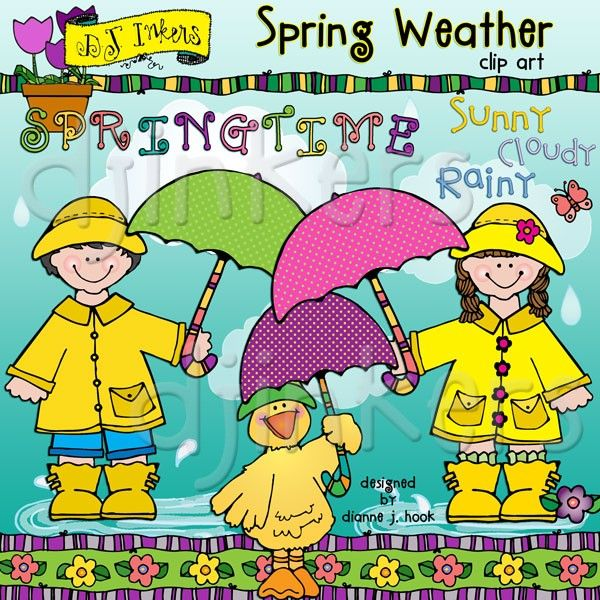 Our darling 'Spring Weather' clip art collection is a ...