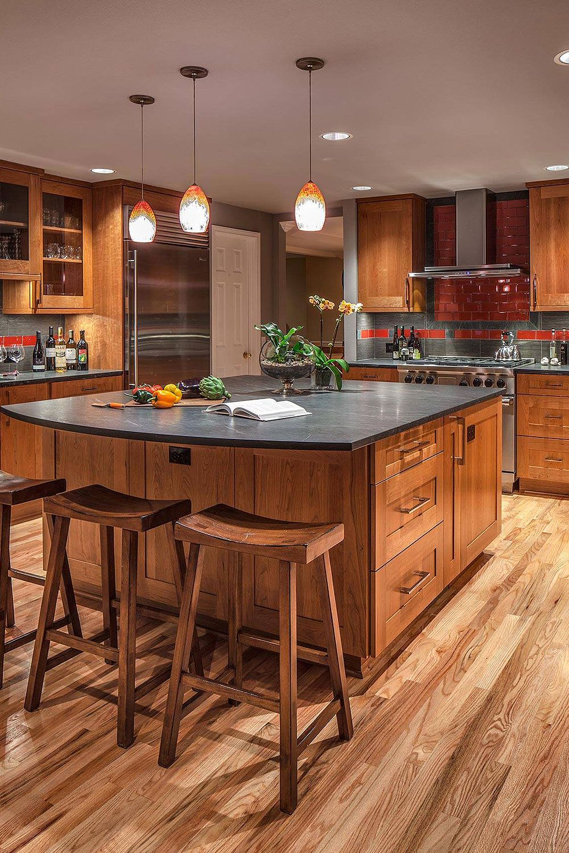 50+ Black Countertop Backsplash Ideas (Tile Designs, Tips ... on Kitchen Backsplash For Black Countertop  id=34379