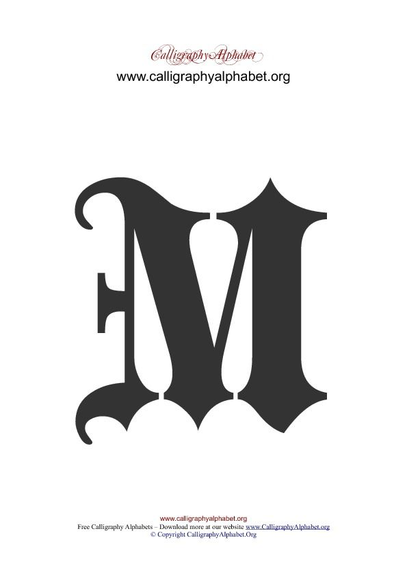 Image Result For Letter M Calligraphy