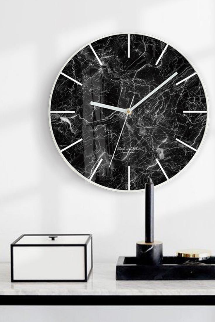 Black White Wall Clock Kamni
