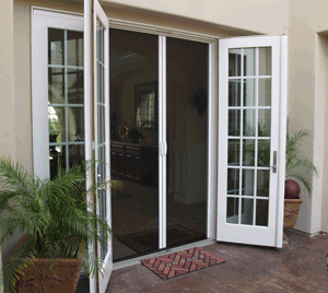 Casper Retractable Disearing Double French Door Screens