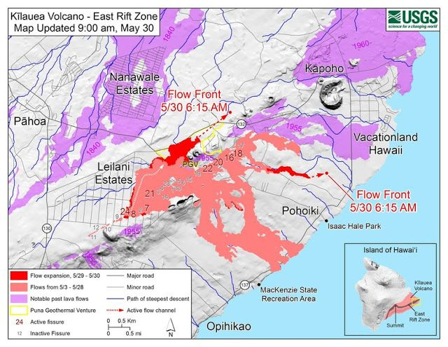 The volcanic eruption in Hawaii New evacuation in Hawaii and new