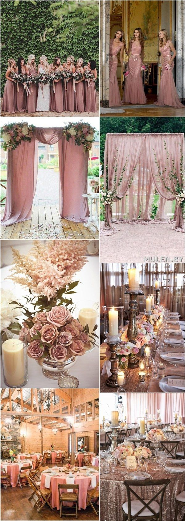 Wedding decorations tulle and lights october 2018  Dusty Rose Wedding Color Ideas  Dusty rose wedding Wedding and