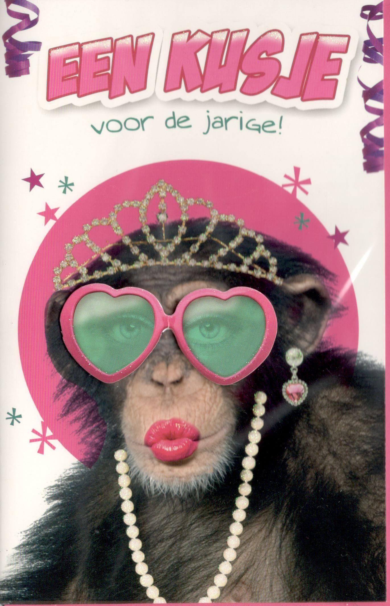 Grappige Citaten Verjaardag : Super grappige kaart met een aap verjaardag