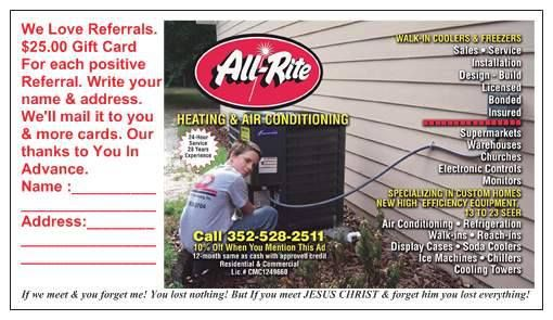 Loren Walbaum All Rite Heating Air Conditioning Inc Are The
