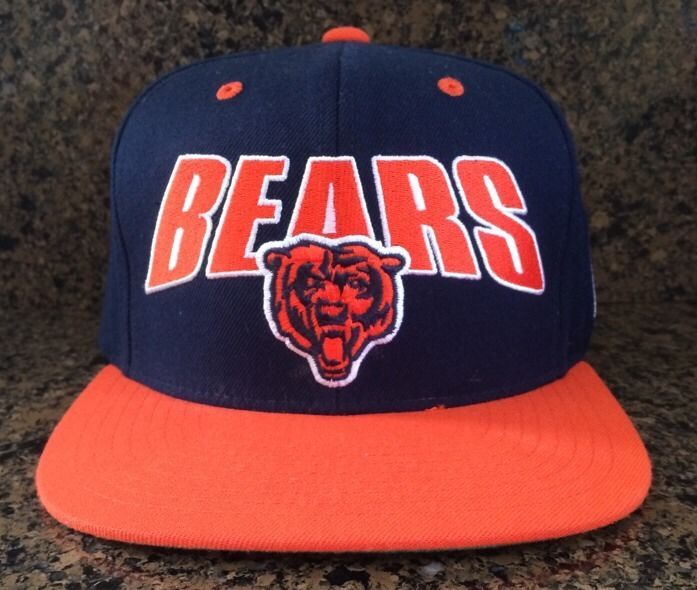fef68f7a Chicago Bears Snapback Adult Cap Hat - Mitchell and Ness NFL Vintage ...