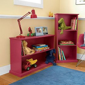 Red Shelving Bookcase Home Decor Shelves