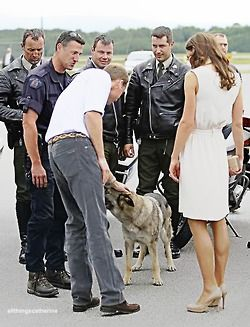 July 3, 2011 - The Duke & Duchess on a walkabout in Forts-de-Levis, Quebec before leaving for Prince Edward Island.