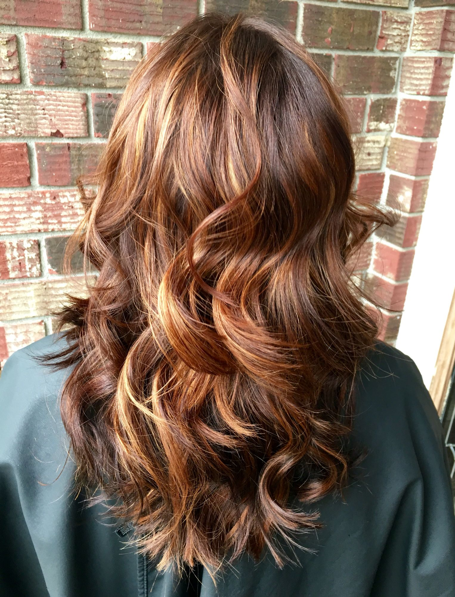 Balayage copper hair red hair highlights summer hair Charleston