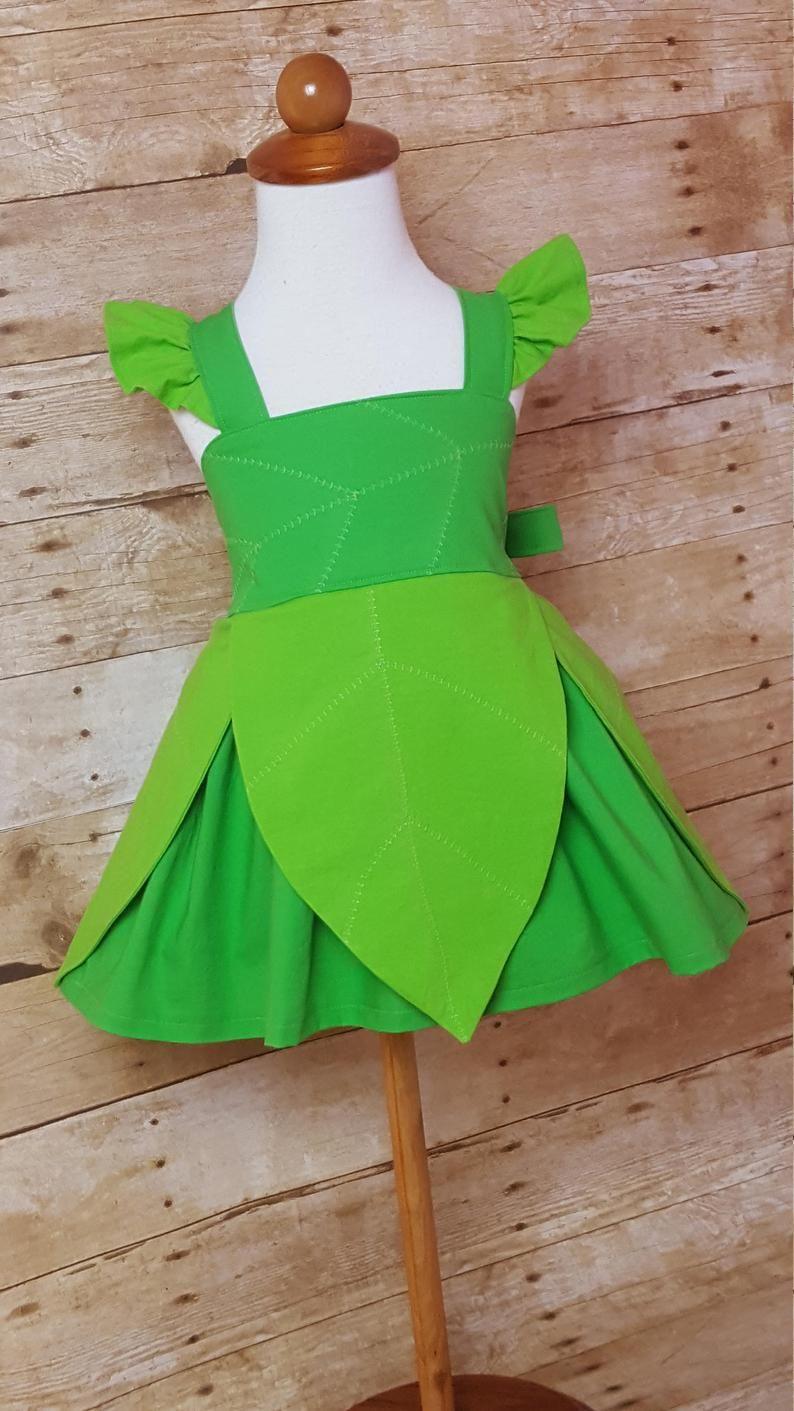 Tinkerbell Inspired Girls Toddler Disney Everyday Princess Etsy Kids Dress Kids Frocks Kids Dress Wear [ 1411 x 794 Pixel ]
