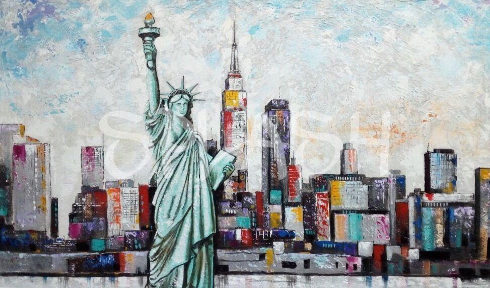 Nueva York con estatua de la libertad SP669 | Cuadros que me gustan ...