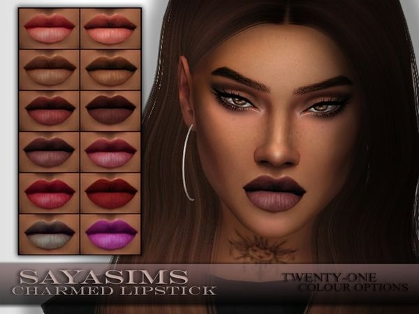 The Sims Resource: Charmed Lipstick by SayaSims • Sims 4 Downloads