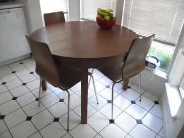 Ikea Bjursta Round Table 3 Gilbert Chairs Dining Room Table