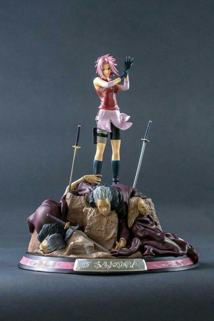 Sakura Tokoh Figur 3d With Images Action Figure Naruto