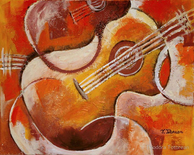 Spanish Guitar Guitar Art Painting Guitar Art Spanish Art