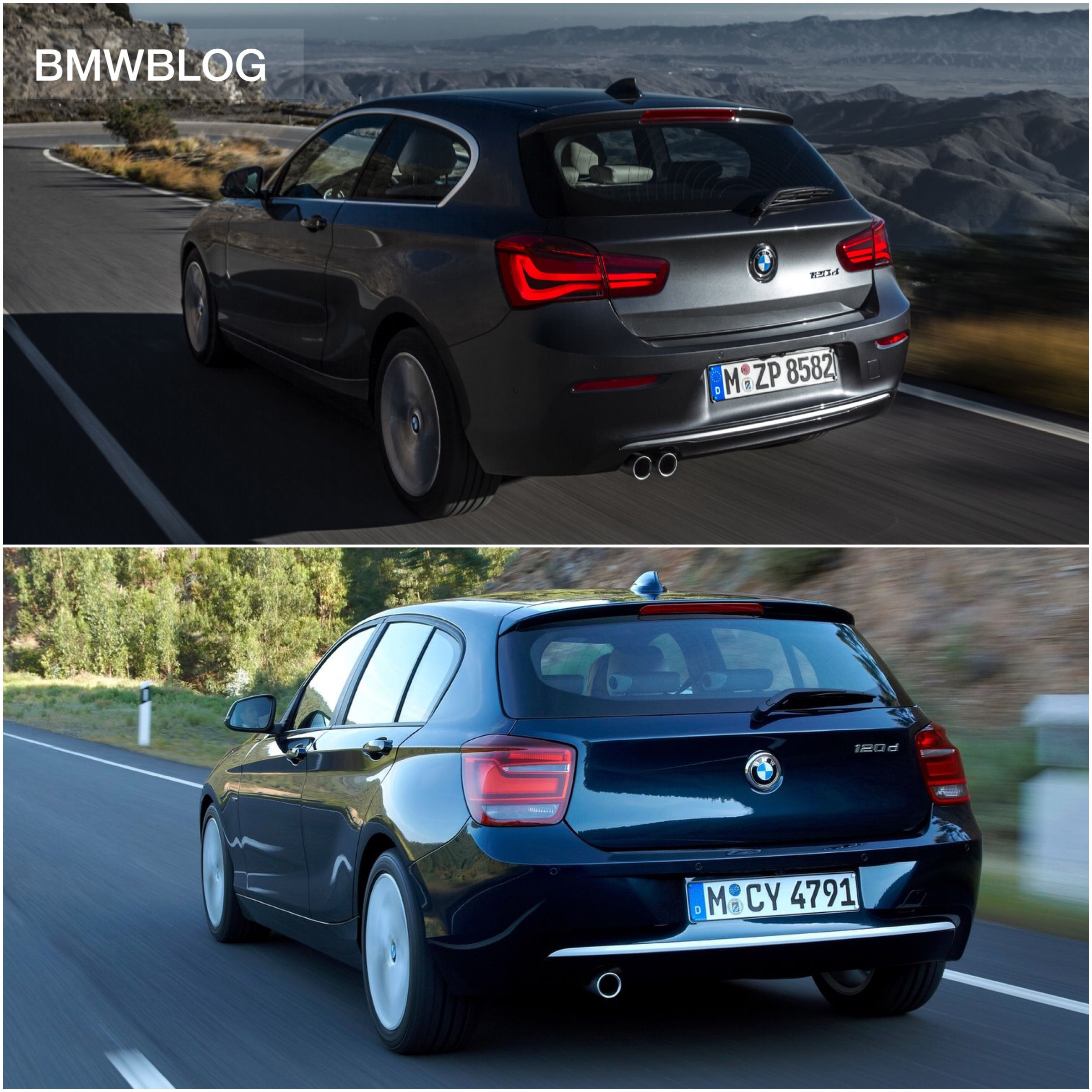 2015 bmw 1 series facelift new vs old side by side comparison http