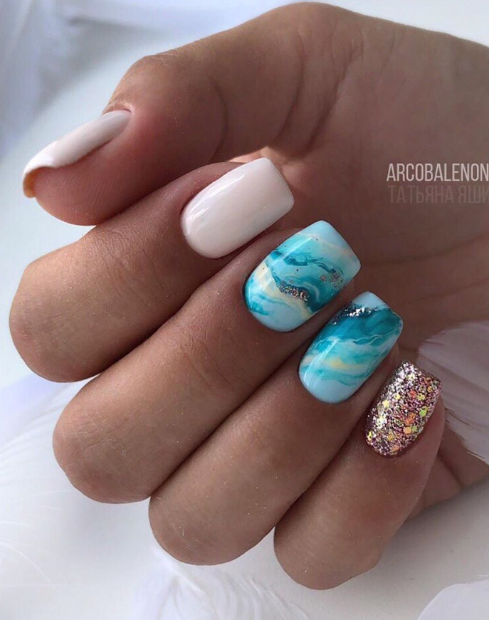 130 Beautiful Manicure Nails For Short Nails Design Ideas Square Almond Nails In 2020 Nail Manicure Acrylic Nail Designs Short Acrylic Nails