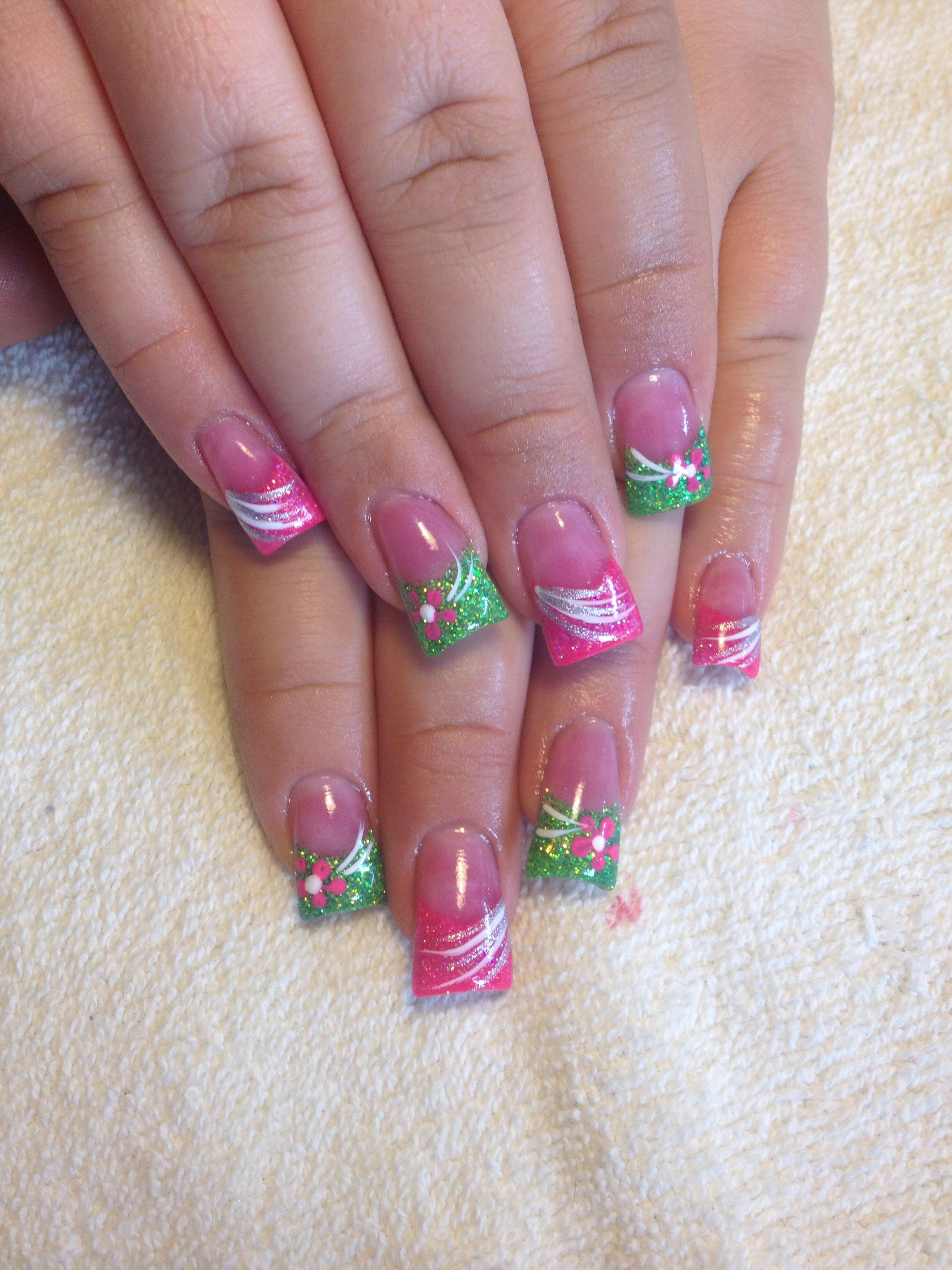 April Showers Bring May Flowers Nail Art