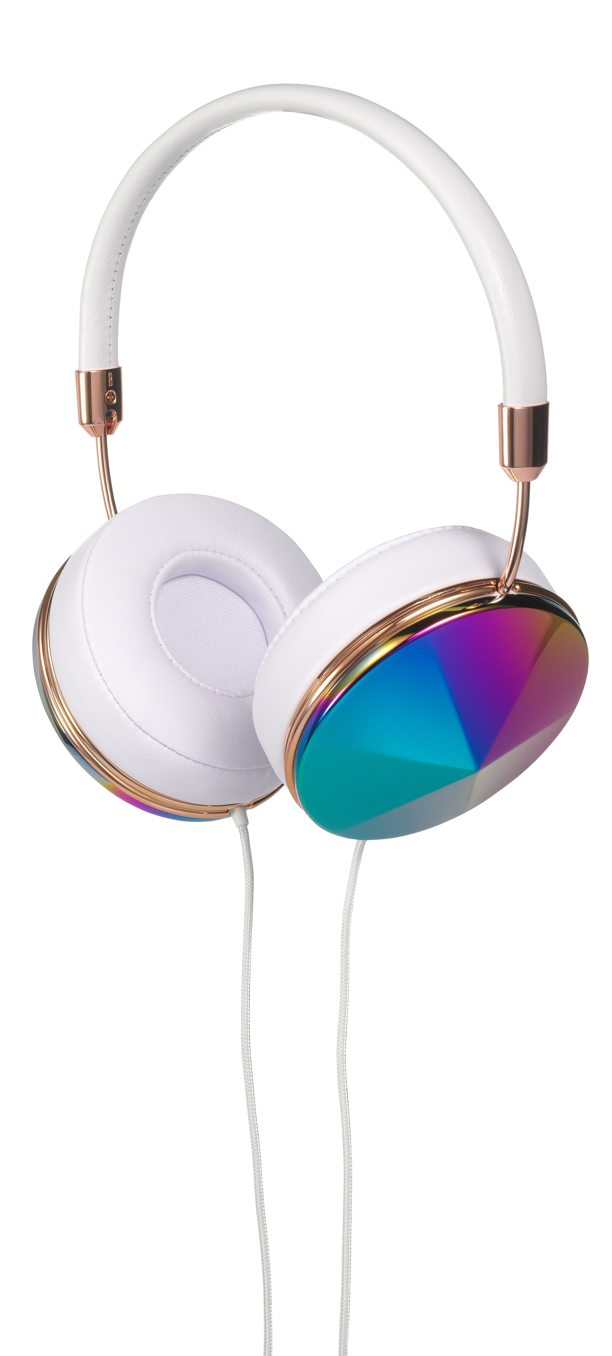 #FRENDS Headphones - our Taylor style in Oil Slick, with White Leather and Rose Gold accents. Perfect for summer wardrobes :) Available with *FREE* US shipping. Shop now at: wearefrends.com <3