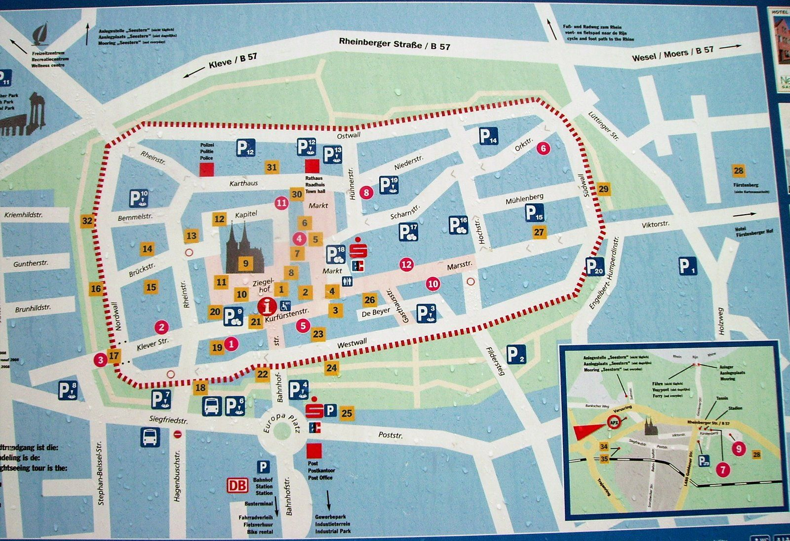 Xanten Tourist Map Xanten Germany • mappery