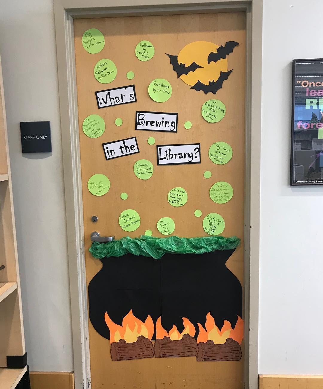 70 Witty Halloween Classroom Door Decorations For Halloween Class