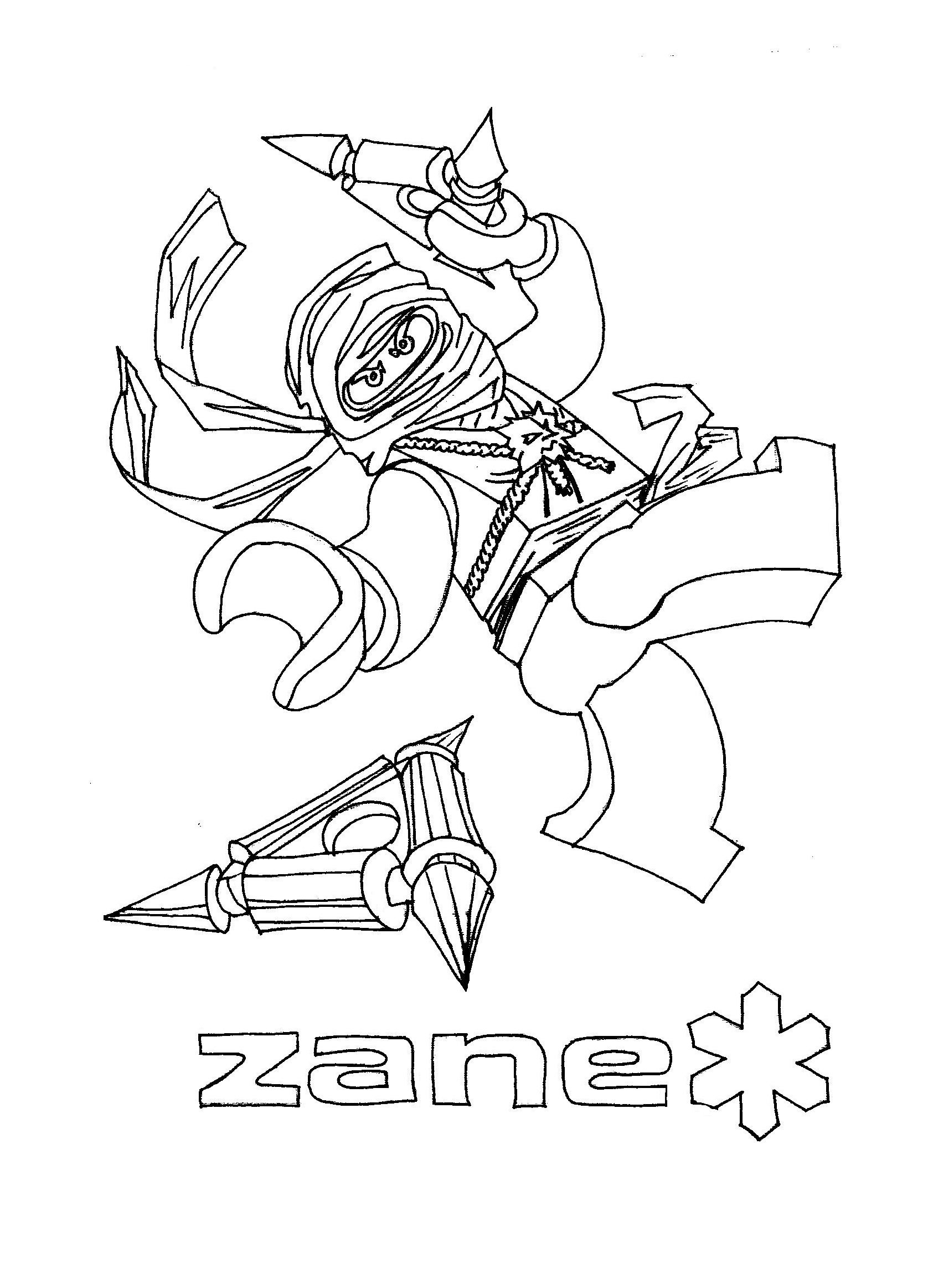 Lego Ninjago Zane Ausmalbilder : Coloring Pages Ninjago Zane And The Rest Of The Ninja Bat