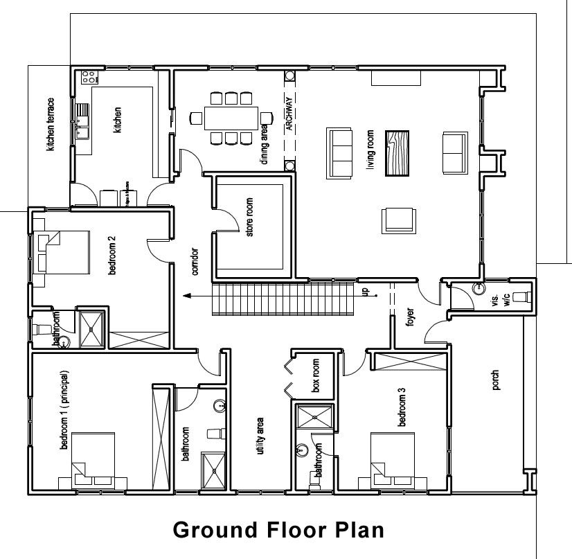 Ground floor house plan google search dream home for Home layouts floor plans
