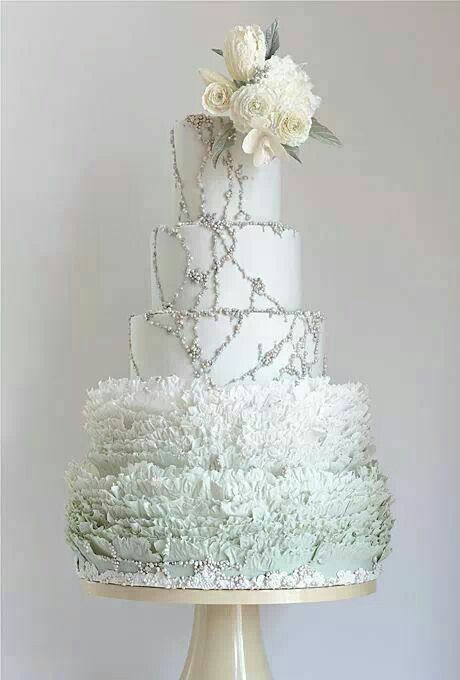 Beautiful winter wonderland cake