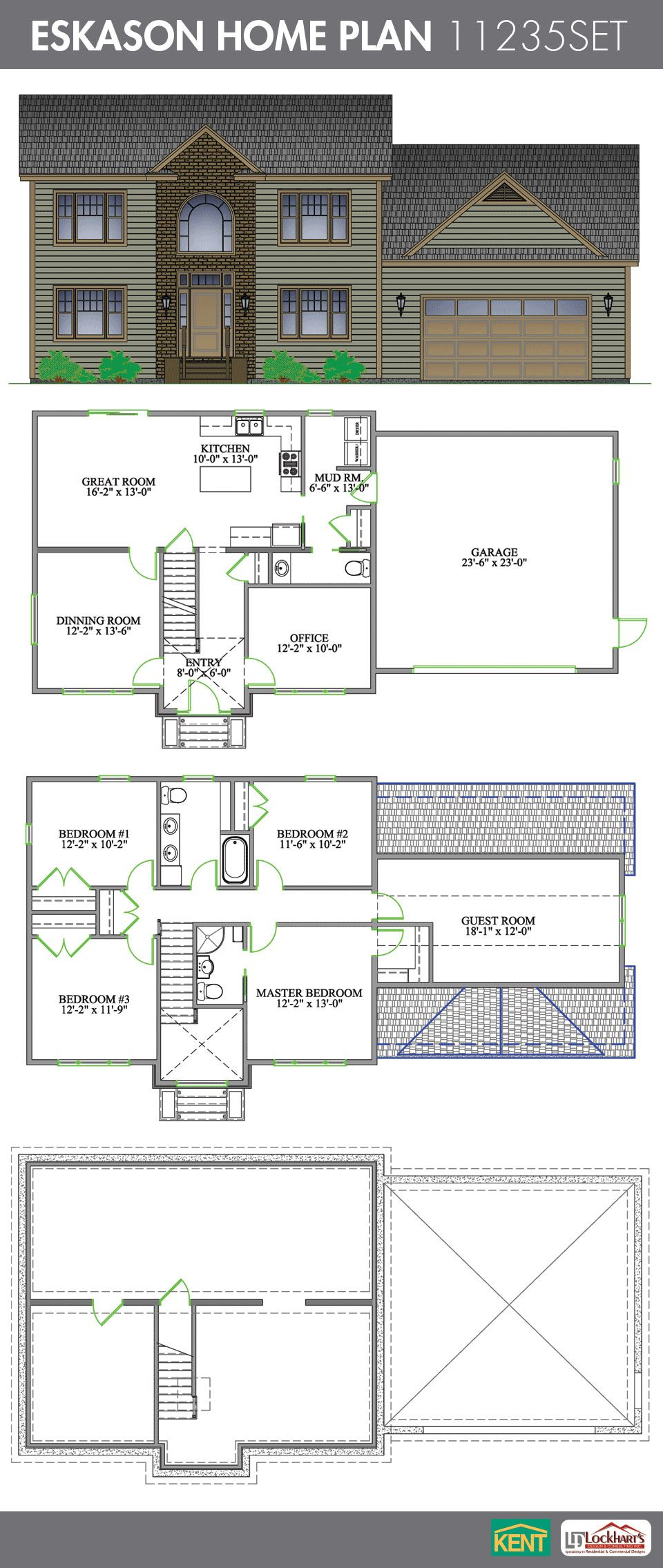 Eskason Home Plan Master Bedroom Plans Floor Plans Floor Plan Design